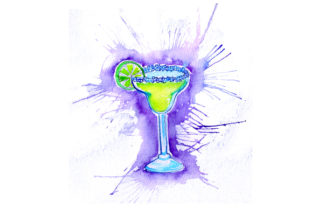 Margarita in Paint Splatter Style Happy Hour Craft Cut File By Creative Fabrica Crafts