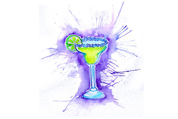 Margarita in Paint Splatter Style Happy Hour Craft Cut File By Creative Fabrica Crafts - Image 1