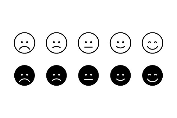 Download Free Happy Sad Rating Icons Svg Cut File By Creative Fabrica Crafts for Cricut Explore, Silhouette and other cutting machines.