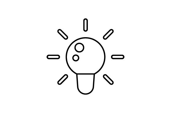 Download Free Light Bulb Icon Svg Cut File By Creative Fabrica Crafts for Cricut Explore, Silhouette and other cutting machines.