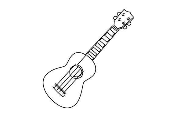 Ukulele (line Art Style) Music Craft Cut File By Creative Fabrica Crafts