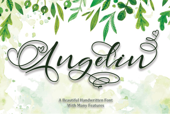 Print on Demand: Angelin Script & Handwritten Font By thomasaradea