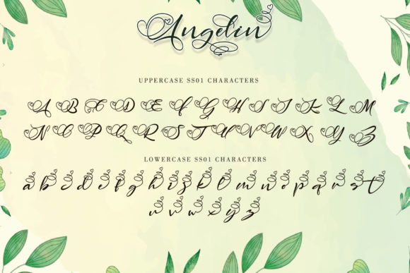 Print on Demand: Angelin Script & Handwritten Font By thomasaradea - Image 11