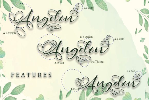 Print on Demand: Angelin Script & Handwritten Font By thomasaradea - Image 2
