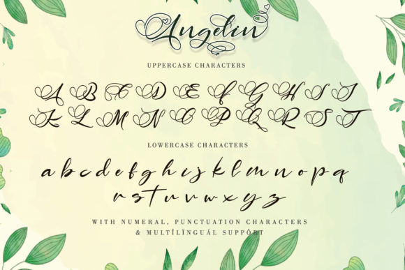 Print on Demand: Angelin Script & Handwritten Font By thomasaradea - Image 8