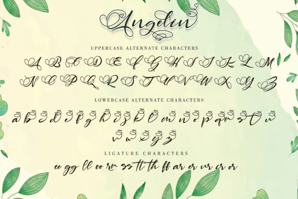 Print on Demand: Angelin Script & Handwritten Font By thomasaradea - Image 9