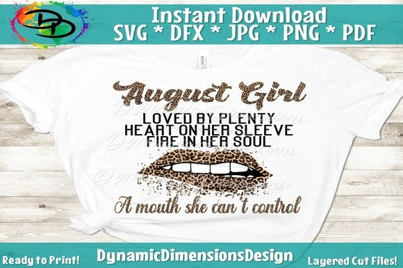 Print on Demand: August Girl, August Birthday Graphic Crafts By dynamicdimensions