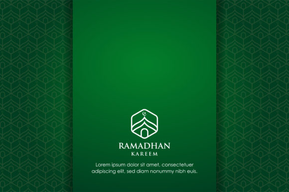 Print on Demand: Background Green Gradient Islamic Graphic Backgrounds By noory.shopper