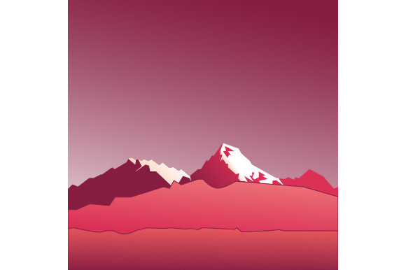 Print on Demand: Beautiful Mountain Scenery Graphic Illustrations By Justlett