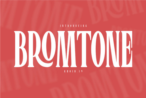 Print on Demand: Bromtone Serif Font By mrkhoir012 - Image 1