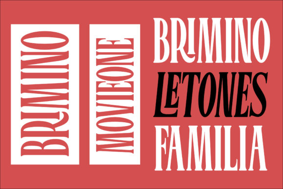 Print on Demand: Bromtone Serif Font By mrkhoir012 - Image 3