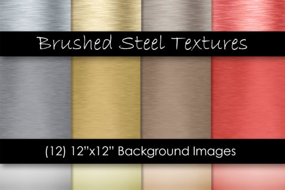 Brushed Steel/Metal Textures Graphic Textures By GJSArt - Image 1