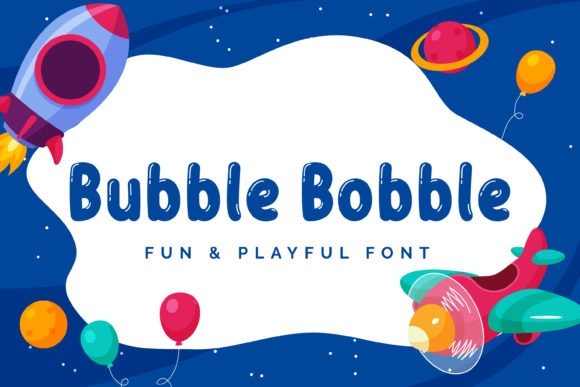 Print on Demand: Bubble Bobble Script & Handwritten Font By almarkhatype