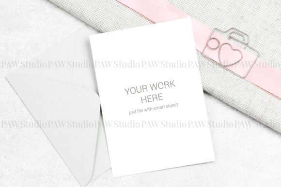 Download Free Card Mockup With Clip Graphic By Pawmockup Creative Fabrica for Cricut Explore, Silhouette and other cutting machines.