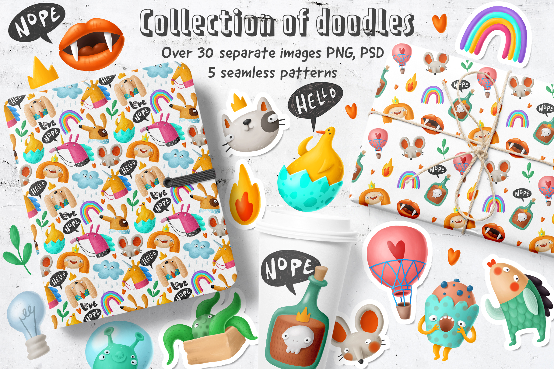 Download Free Cartoon Doodles Clipart Graphic By Architekt At Creative Fabrica for Cricut Explore, Silhouette and other cutting machines.