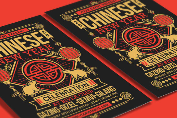 Chinese New Year 2020 Graphic Print Templates By muhamadiqbalhidayat - Image 3