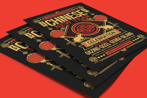 Chinese New Year 2020 Graphic Print Templates By muhamadiqbalhidayat - Image 4