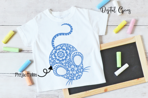 Download Free Chinese New Year Rat Design 2020 Graphic By Digital Gems for Cricut Explore, Silhouette and other cutting machines.