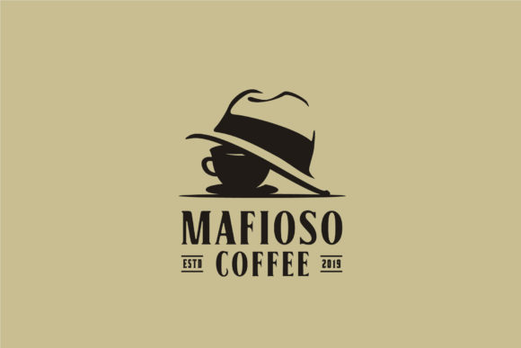 Download Free Coffee Cup Mafia Mafioso Hat Crime Logo Graphic By Enola99d for Cricut Explore, Silhouette and other cutting machines.