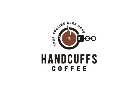 Download Free Coffee Handcuffs Mafia Crime Cafe Logo Graphic By Enola99d for Cricut Explore, Silhouette and other cutting machines.