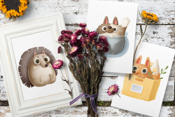 Print on Demand: Cute Little Animals Graphic Illustrations By Architekt_AT - Image 2