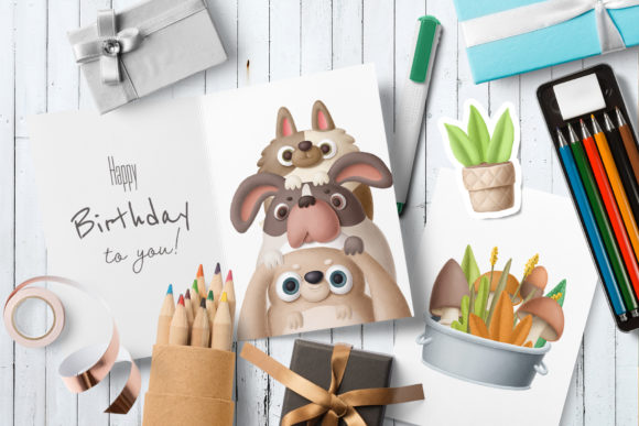 Print on Demand: Cute Little Animals Graphic Illustrations By Architekt_AT - Image 4