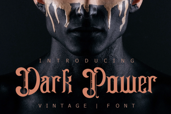 Print on Demand: Dark Power Display Font By fontkong