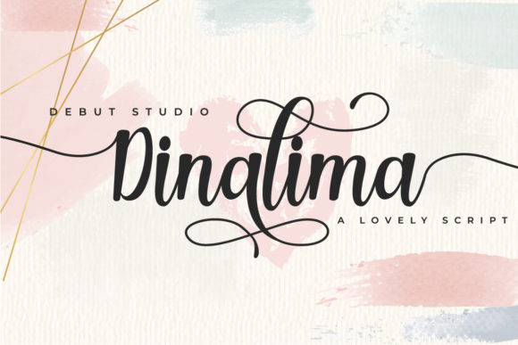 Print on Demand: Dinalima Script & Handwritten Font By Debut Studio