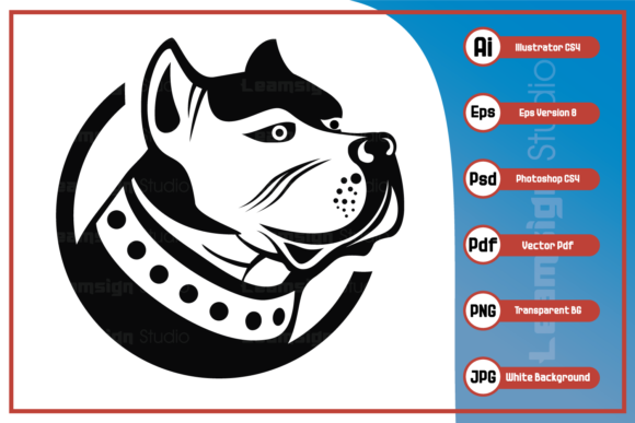 Print on Demand: Dog Head Design Graphic Icons By leamsign