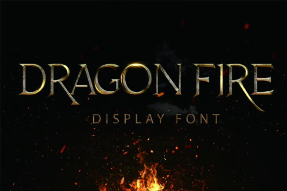Print on Demand: Dragon Fire Display Font By Girinesia