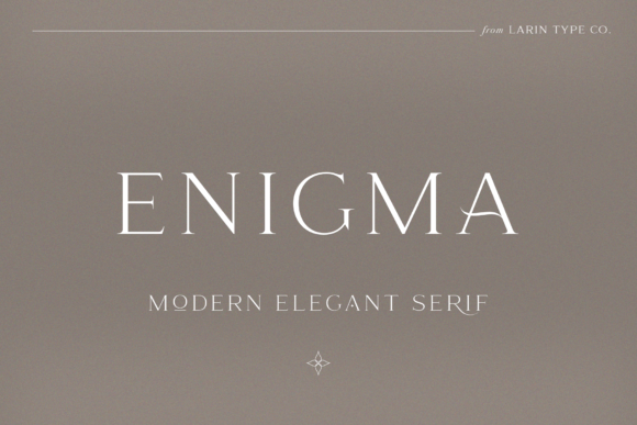 Print on Demand: Enigma Serif Font By Pasha Larin