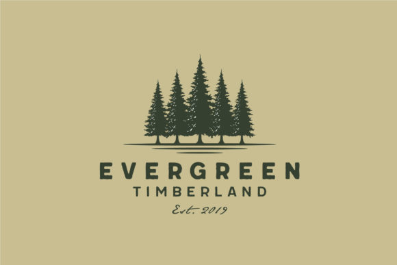 Download Free Evergreen Pines Spruce Cedar Tree Logo Graphic By Enola99d for Cricut Explore, Silhouette and other cutting machines.
