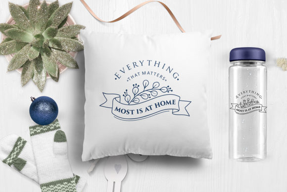 Download Free Everything That Matters Most Is At Home Quote Cut File Grafico for Cricut Explore, Silhouette and other cutting machines.