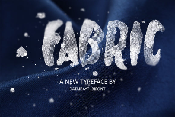 Print on Demand: Fabric Display Font By dataibayt
