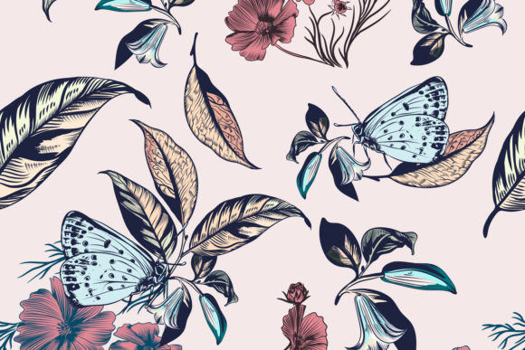 Floral Illustration with Vector Flowers Graphic Patterns By fleurartmariia