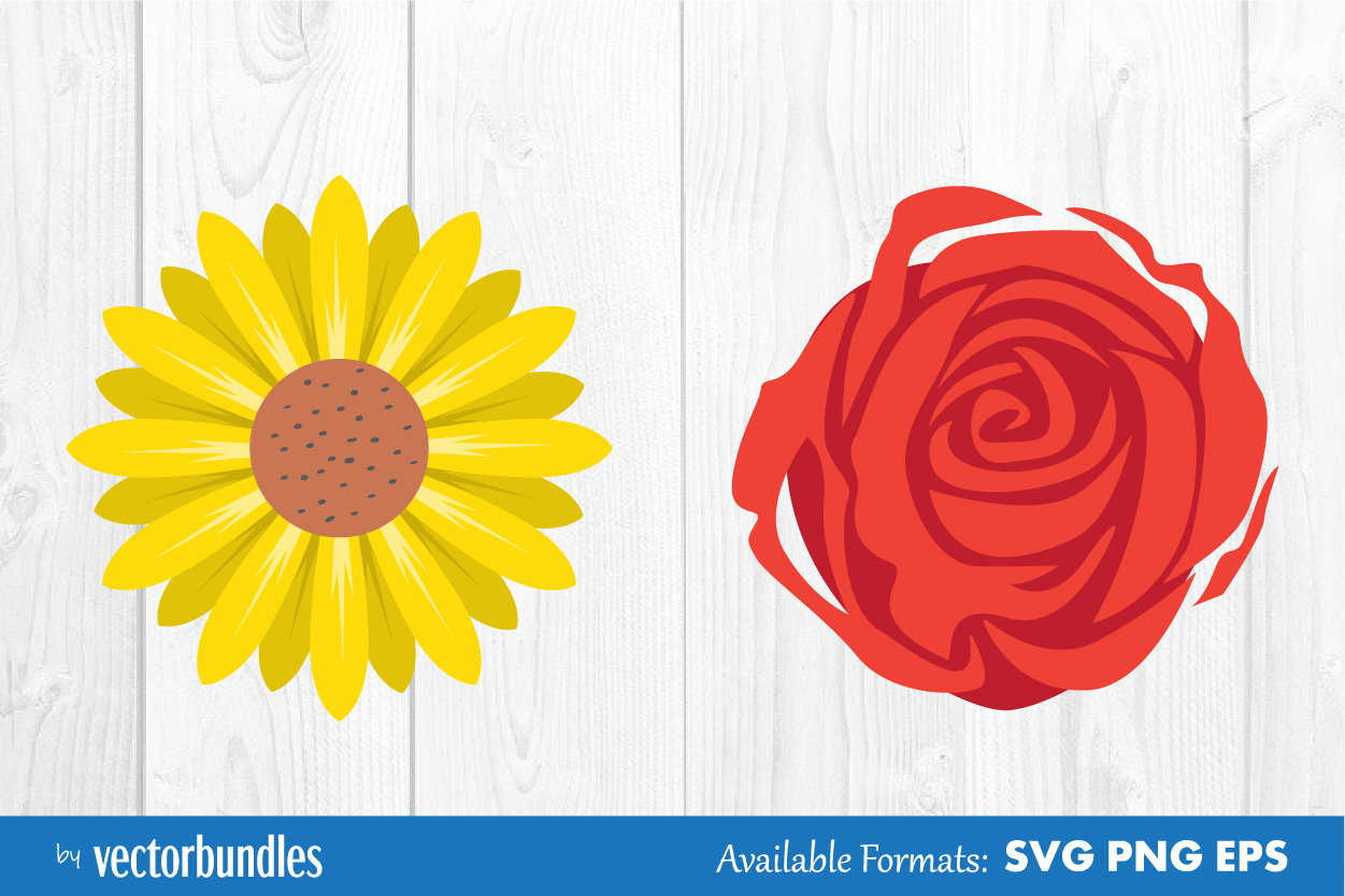 Download Free Flower Clip Art Graphic By Vectorbundles Creative Fabrica for Cricut Explore, Silhouette and other cutting machines.