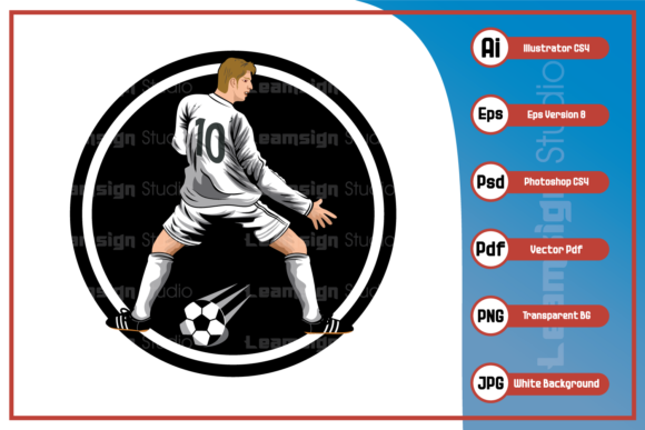 Print on Demand: Football Player Design Graphic Icons By leamsign