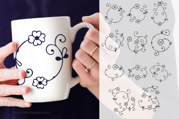 Print on Demand: Four-leaf Clover Arabesque Decor Gráfico Ilustraciones Por artsbynaty