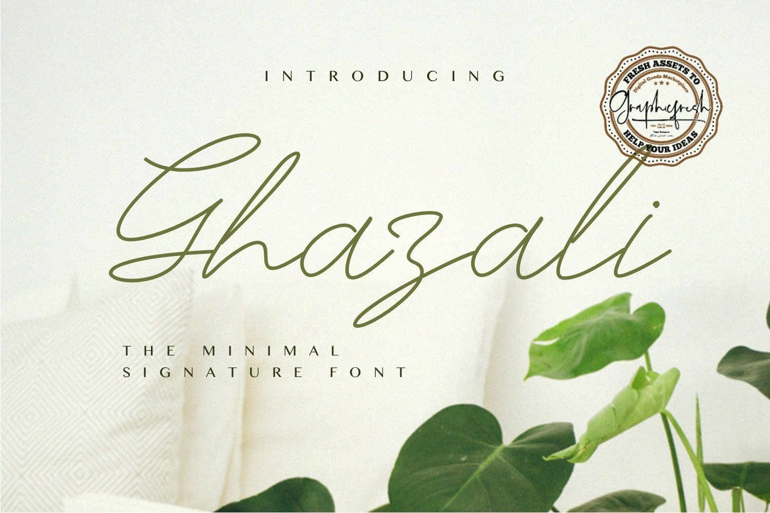 Download Free Ghazali Font By Sameeh Media Creative Fabrica for Cricut Explore, Silhouette and other cutting machines.