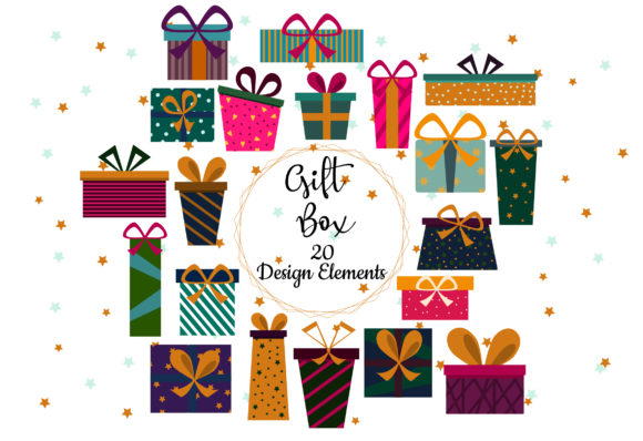 Download Free Gift Box Clipart Christmas Clipart Graphic By Igraphic Studio for Cricut Explore, Silhouette and other cutting machines.