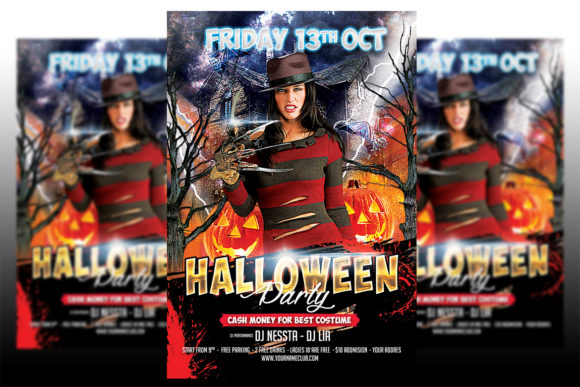 Print on Demand: Halloween Party Flyer Graphic Print Templates By Matthew Design