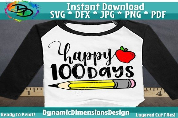 Print on Demand: Happy 100 Days Graphic Crafts By dynamicdimensions