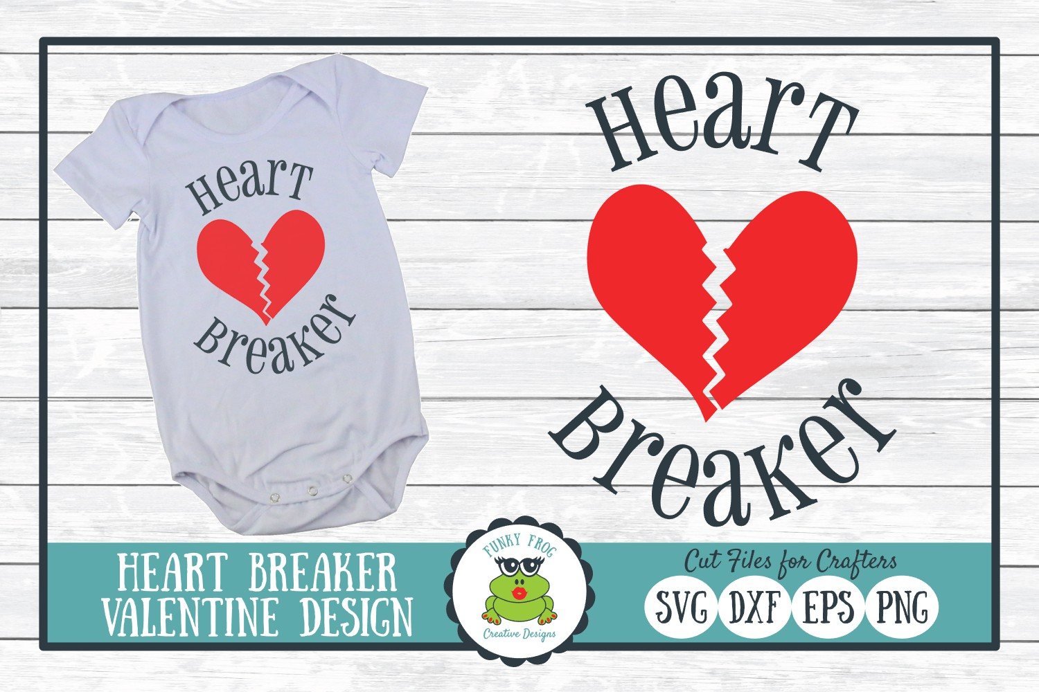 Download Free Heartbreaker Valentine Graphic By Funkyfrogcreativedesigns for Cricut Explore, Silhouette and other cutting machines.