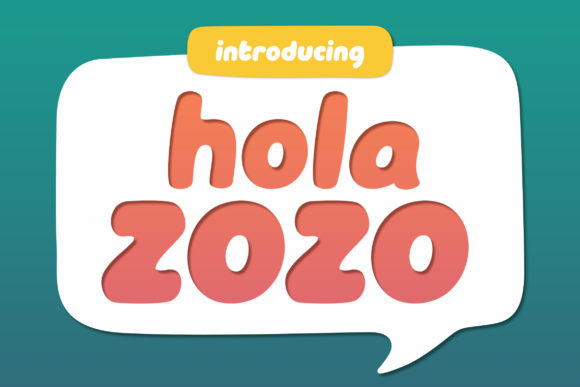 Print on Demand: Hola Zozo Display Font By Orenari