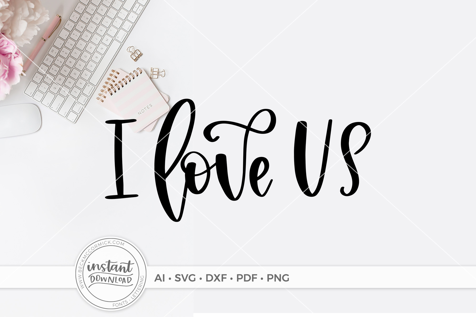 Download Free I Love Us Graphic By Beckmccormick Creative Fabrica for Cricut Explore, Silhouette and other cutting machines.