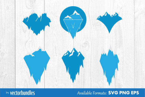Download Free Ice Mountain Clip Art Graphic By Vectorbundles Creative Fabrica for Cricut Explore, Silhouette and other cutting machines.