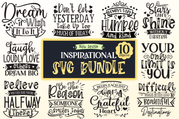 Print on Demand: Inspirational Design Bundle Graphic Crafts By DesignFarm