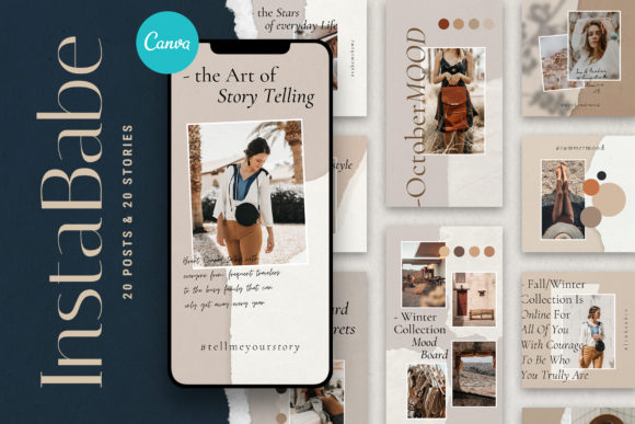 Download Free Instababe Canva Posts Stories Graphic By Silverstag Creative Fabrica for Cricut Explore, Silhouette and other cutting machines.