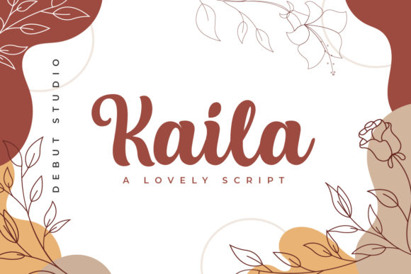 Print on Demand: Kaila Script & Handwritten Font By Debut Studio