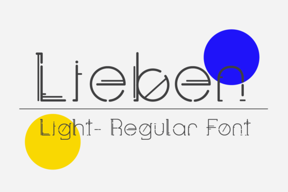 Print on Demand: Lieben Display Font By yai.salinas